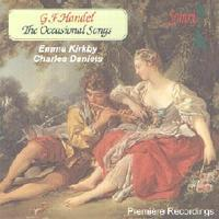 Picture of CD of Songs by Handel, performed by Emma Kirkby, soprano, Charles Daniels, baritone, directed at the harpsichord by Paul Nicholson