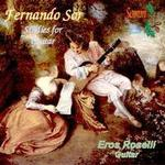 Picture of CD of studies for guitar by Fernando Sor, performed by Eros Roselli