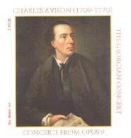 Picture of CD of chamber concerti by Charles Avison, performed by the Georgian Concert