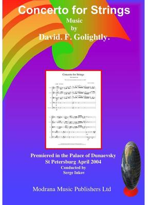 Picture of Sheet music  for string orchestra. Score of Concerto for Strings by David Golightly (includes premiere recording)
