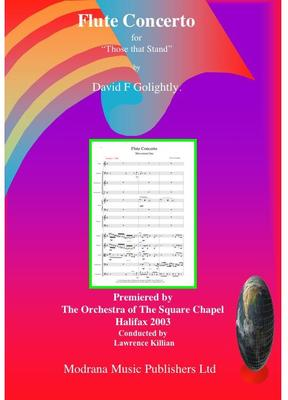 Picture of Sheet music  for flute and chamber orchestra. Score of Flute Concerto by David Golightly (includes premiere recording)