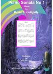 Picture of Score of Piano Sonata no 1 by David Golightly (includes premiere recording)