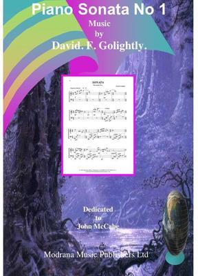 Picture of Score of Piano Sonata no 1 by David Golightly (includes premiere recording)