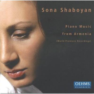 Picture of CD of piano music by Armenian composers, performed by Sona Shaboyan