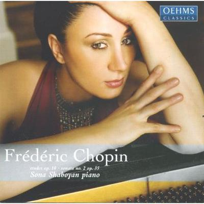 Picture of CD of Chopin piano music performed by Sona Shaboyan
