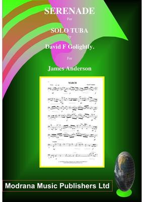 Picture of Sheet music  by David Frederick Golightly. Serenade for Solo Tuba. A three movement work Diploma standard composed for James Anderson. (LSO Tuba 1980)