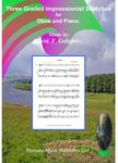 Picture of Sheet music  by David Frederick Golightly. Three graded pieces for oboe and piano. Score and part.  Includes a cd (computer generated)