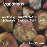 Picture of CD of music for string quartet by Elliott Schwartz and George Rochberg performed by the Kreutzer Quartet