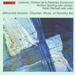 Picture of CD of chamber music by Dorothy Ker, performed by Lontano with Andrew Sparling clarinet, and Robin Michael cello, conducted by Odaline de la Martinez