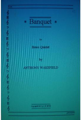 Picture of Sheet music for brass quintet by Anthony Wakefield - score and parts.