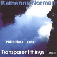 Picture of CD of music for piano, tape and electronics by Katharine Norman with Philip Mead (piano)