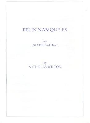 Picture of Sheet music for SSAATTBB and Organ by Nicholas Wilton