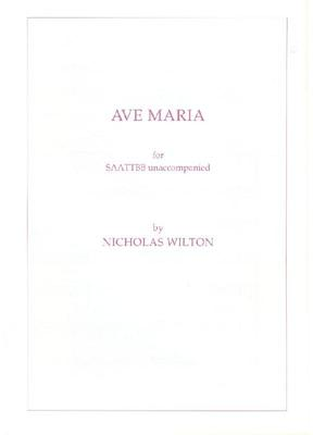 Picture of Sheet music  for chapel choir. Sheet music for unaccompanied SAATTBB by Nicholas Wilton