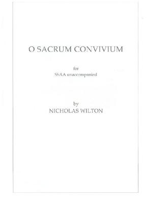Picture of Sheet music  for chapel choir. Sheet music for SSAA unaccompanied by Nicholas Wilton