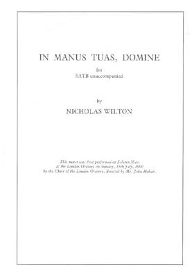 Picture of Sheet music  for chapel choir. Sheet music for unaccompanied SATB by Nicholas Wilton