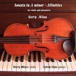 Picture of Sonata in A minor in four movements for violin and piano Artist: Kerry Milan and Itzhak Oda