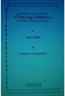 Picture of Sheet music  by Anthony Wakefield. For Clarinet and Pianoforte