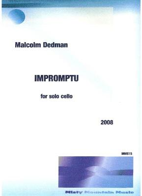 Picture of Sheet music  by Malcolm Dedman. This short 'cello solo explores many moods and 'cello techniques.