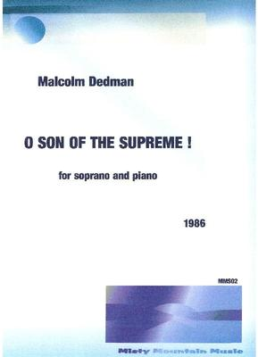 Picture of Sheet music  by Malcolm Dedman. A 4 minute song for soprano and piano.