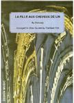 Picture of Sheet music  for flute, oboe, clarinet, french horn and bassoon by Claude Debussy. La Fille aux Cheveux de Lin arranged for wind quintet by Fantisek Pok.