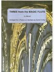 Picture of Sheet music  by Wolfgang Amadeus Mozart. Three arias from the Magice Flute by Mozart arranged for 2 flutes & 2 clarinets by Sylvia Fairley.