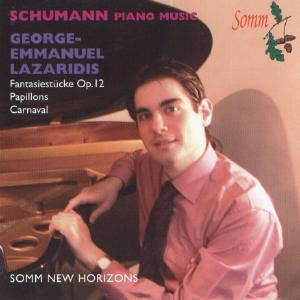 Picture of CD of piano music by Schumann performed by George-Emmanuel Laziridis
