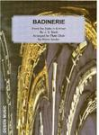 Picture of Sheet music  for 6 flutes; 2 flutes or piccolos; alto flute; bass flute by Johann Sebastian Bach. Bach's famous Badinerie arranged for flute choir by Robin Soldan.