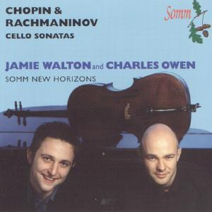 Picture of CD of 'cello sonatas by Chopin and Rachmaninov performed by Jamie Walton and Charles Owen