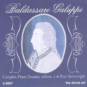 Picture of CD of piano music by Baldassare Galuppi, performed by Peter Seivewright