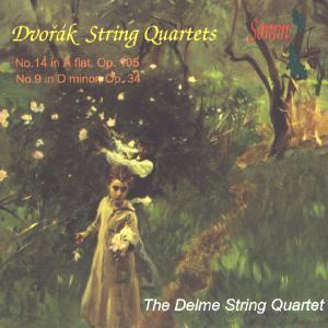 Picture of CD of String Quartets No.14 and No.9 by Antonín Dvořák, performed by the Delme String Quartet