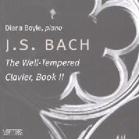 Picture of CD of keyboard music by J S Bach performed by Diana Boyle