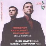 Picture of CD of music for cello by Prokofiev, Kabalevsky and Miaskovsky performed by Jamie Walton (cello) and Daniel Grimwood (piano)