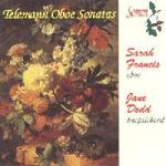 Picture of CD of sonatas for oboe by Telemann performed by Sarah Francis (oboe) and Jane Dodd (harpsichord) Artist: Sarah Francis, Jane Dodd, Margaret Powell and Robert Jordan