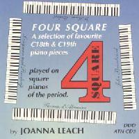 Picture of CD of early Classical piano works played on square pianos of the period by Joanna Leach