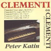 Picture of CD of piano sonatas by Clementi, played on a square piano of the period by Peter Katin