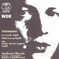 Picture of CD of piano music by Schumann, played by Andreas Boyde