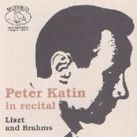 Picture of CD of piano music by Liszt and Brahms played by Peter Katin.