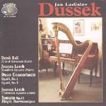 Picture of CD of harp and piano music by Dussek, played by Derek Bell (harp) and Joanna Leach (square piano)