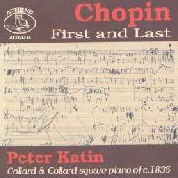 Picture of CD of piano music by Chopin played by Peter Katin on a period square piano