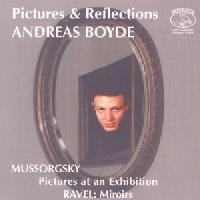Picture of CD of piano music by Mussorgsky and Ravel played by Andreas Boyde