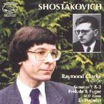 Picture of CD of piano music by Shostakovich played by Raymond Clarke