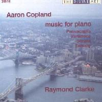 Picture of CD of piano music by Aaron Copland, performed by Raymond Clarke