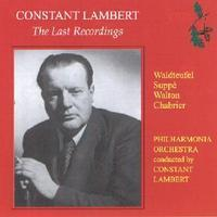 Picture of CD of music by Waldteufel, Suppé, Walton and Chabrier, performed by the Philharmonia Orchestra, conducted by Constant Lambert.