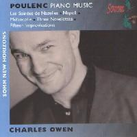 Picture of CD of piano music by Francois Poulenc performed by Charles Owen