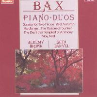 Picture of CD of music for two pianos by Sir Arnold Bax, performed by Jeremy Brown and Seta Tanyel