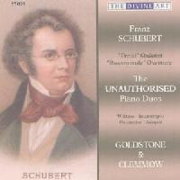 Picture of CD of piano duos by various composers on the works of Franz Schubert, performed by Anthony Goldstone and Caroline Clemmow