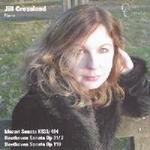 Picture of CD of Mozart and Beethoven Piano Sonatas, performed by Jill Crossland