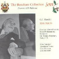 Picture of Double CD of Sir Thomas Beecham conducting Handel's Solomon with the Beecham Choral Society and the Royal Philharmonic Orchestra Artist: Sir Thomas Beecham, Royal Philharmonic Orchestra, Beecham Choral Society, John Cameron, Lois Marshall, Elsie Morison and Alexander Young
