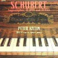 Picture of CD of piano music by Schubert, performed by Peter Katin