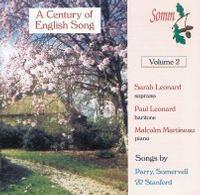 Picture of A Century of English Song, Volume 2, performed by Sarah Leonard, soprano, Paul Leonard, baritone, Malcom Martineau, piano